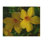 Golden Trumpet Flowers II Tropical Floral Wood Wall Decor