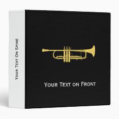 Golden Trumpet Music Theme Binder at Zazzle