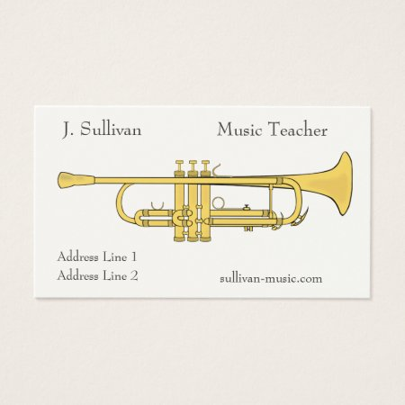 Golden Trumpet Music Theme Business Card