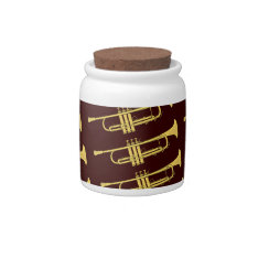 Golden Trumpet Music Theme Candy Jars at Zazzle