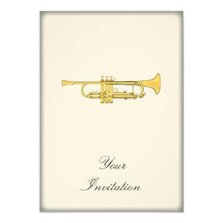 Golden Trumpet Music Theme Card