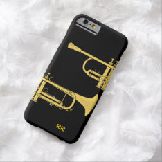 Golden Trumpet Music Theme Iphone 6 Case at Zazzle