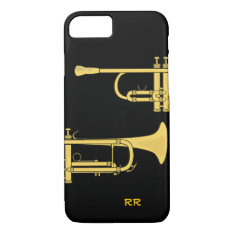 Golden Trumpet Music Theme Iphone 7 Case at Zazzle