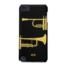 Golden Trumpet Music Theme Ipod Touch 5g Case at Zazzle