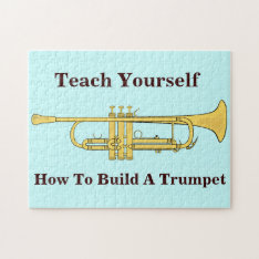 Golden Trumpet Music Theme Jigsaw Puzzle at Zazzle