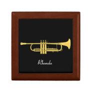 Golden Trumpet Music Theme Keepsake Box at Zazzle