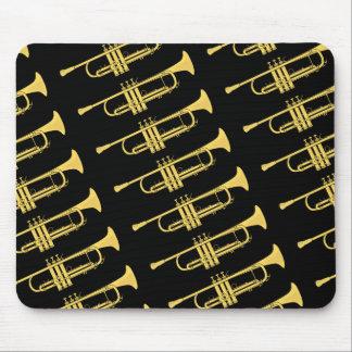 Golden Trumpet Music Theme Mouse Pad