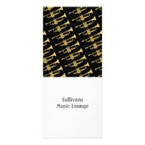 Golden Trumpet Music Theme Rack Card at Zazzle