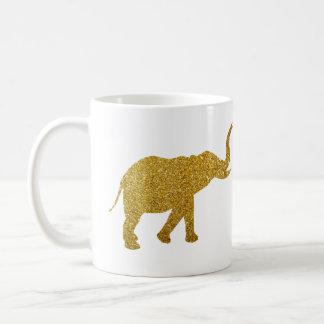 Golden Trumpeting Elephants Classic White Coffee Mug