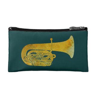 Golden Tuba Makeup Bags