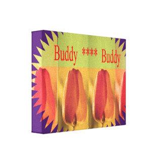 Golden Tulip  -  Floral Petal based design Canvas Print