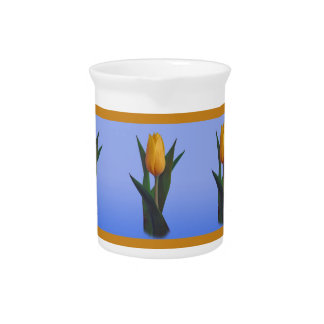 Golden Tulip Flower Drink Pitchers