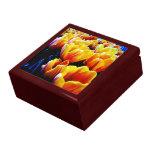 golden tulip flowers jewelry box