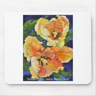 Golden Tulips Mouse Pad