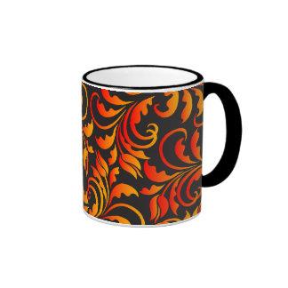 golden tulips ringer mug