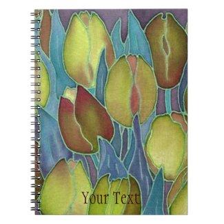 Golden Tulips Spiral-Bound Journal Notebook
