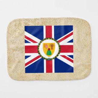 Golden Turks and Caicos Islands Flag Burp Cloth