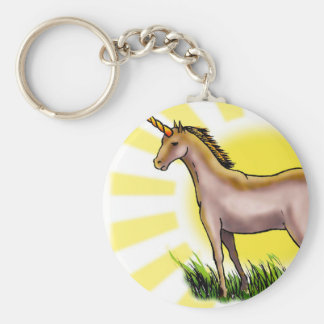 Golden Unicorn Keychain