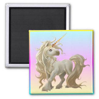 Golden Unicorn Magnet