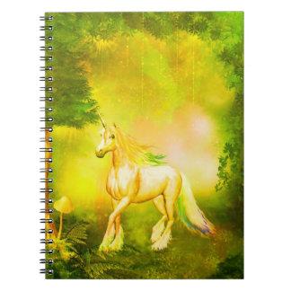 Golden Unicorn Notebook