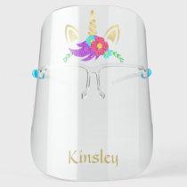 Golden Unicorn Personalized Face Shield