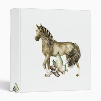 Golden Unicorn & Shy Fairy Binder