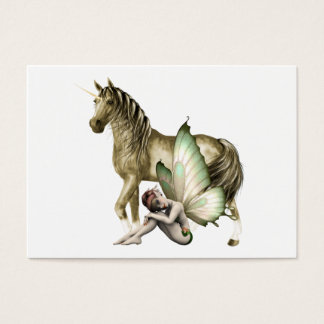 Golden Unicorn & Shy Fairy Mini Print Business Card