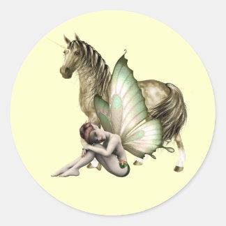 Golden Unicorn & Shy Fairy Sticker
