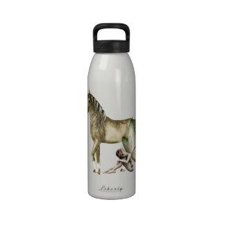 Golden Unicorn & Shy Fairy Water Bottle