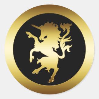 GOLDEN UNICORN CLASSIC ROUND STICKER