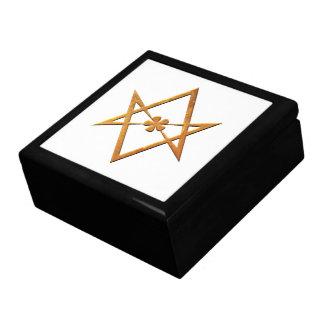 Golden Unicursal Hexagram - thelemic symbol Gift Boxes