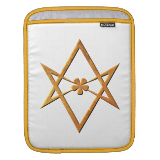 Golden Unicursal Hexagram - thelemic symbol iPad Sleeve