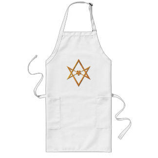 Golden Unicursal Hexagram - thelemic symbol Long Apron
