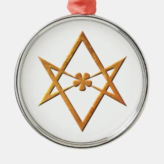 Golden Unicursal Hexagram - thelemic symbol Metal Ornament