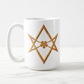 Golden Unicursal Hexagram - thelemic symbol Classic White Coffee Mug