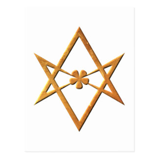 Golden Unicursal Hexagram - thelemic symbol Postcard