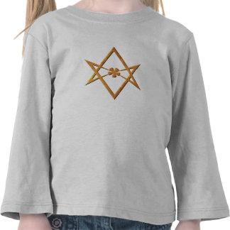 Golden Unicursal Hexagram - thelemic symbol Shirts