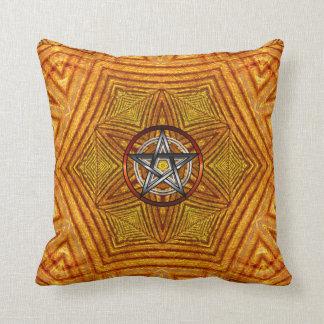 Golden Unity : Geometric Pentacle Cushion / Pillow