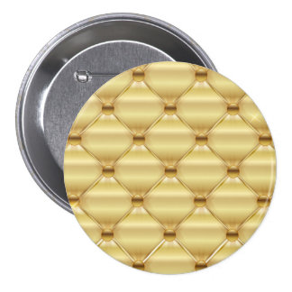 Golden Upholstery Design Pinback Button