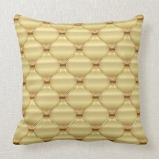 Golden Upholstery Design Throw Pillow