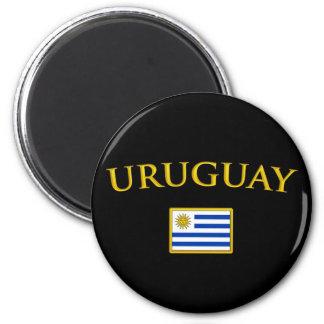 Golden Uruguay 2 Inch Round Magnet