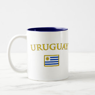 Golden Uruguay Mugs
