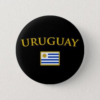 Golden Uruguay Pinback Button