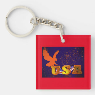 Golden USA Keychain