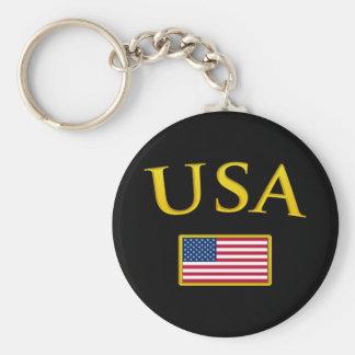 Golden USA Keychain