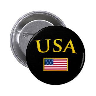 Golden USA Pinback Button