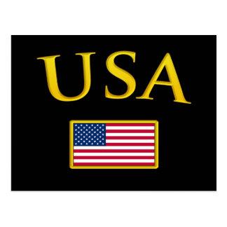 Golden USA Postcard