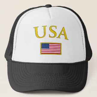 Golden USA Trucker Hat