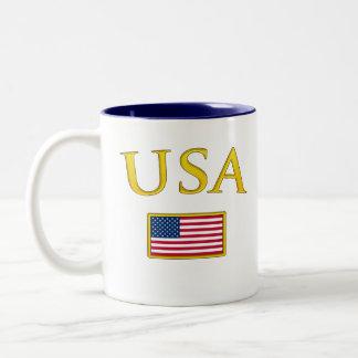 Golden USA Two-Tone Coffee Mug