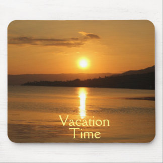 Golden Vacation Time Mouse Pad